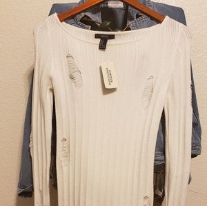 FOREVER 21 Distressed Sweater Top/Dress